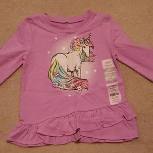 🦄Carter's Toddler Girl 3T Unicorn Top NWT